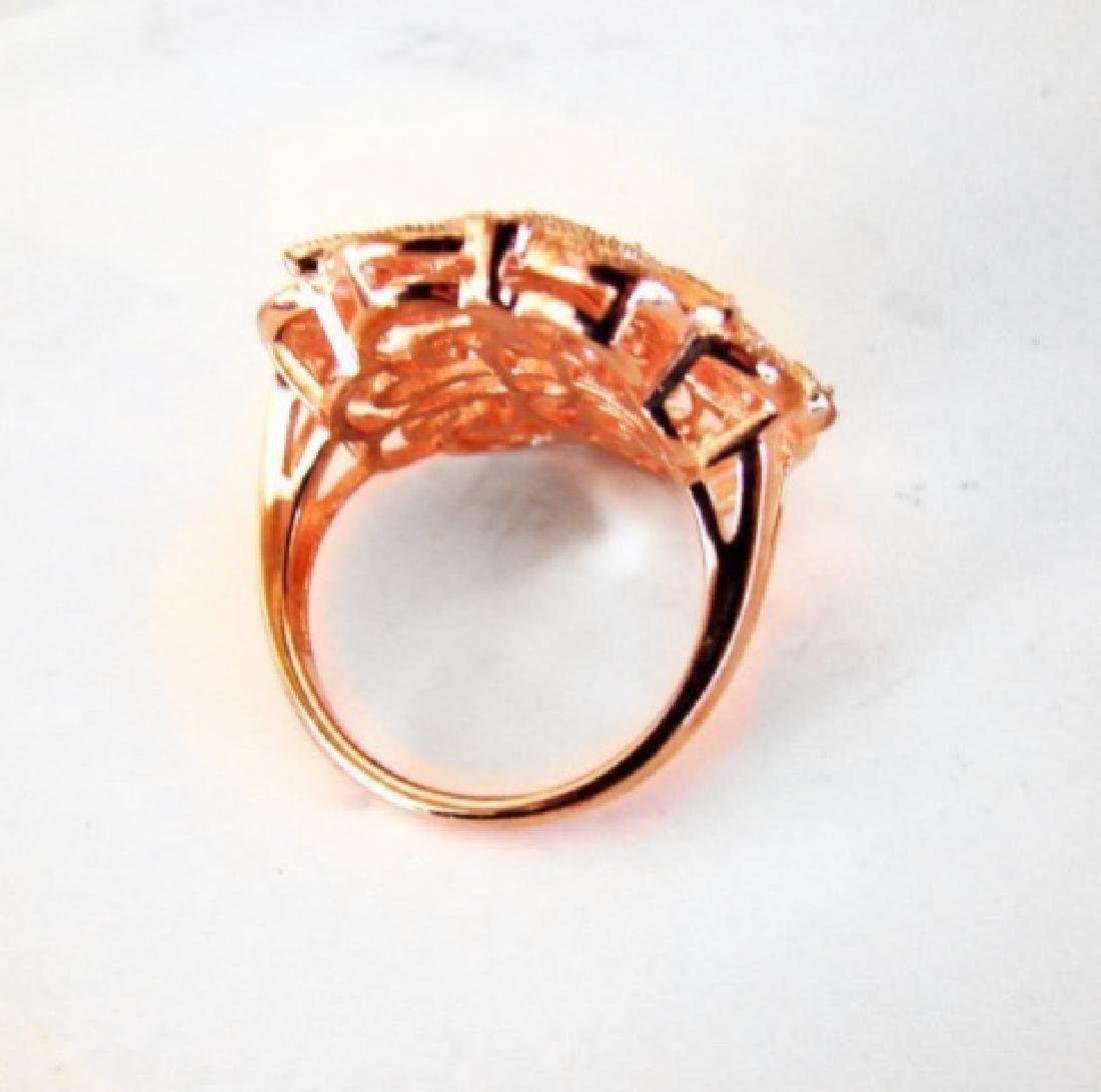 Creation Diamond Scallop Ring .39Ct 18k R/g Overlay - 3