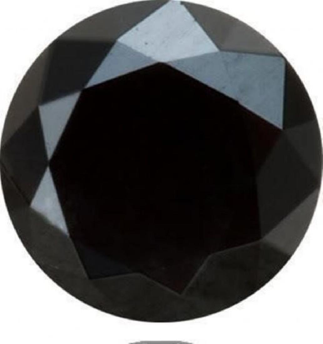 Black Diamond Roud Shape 6.18Ct/11.8x8 mm