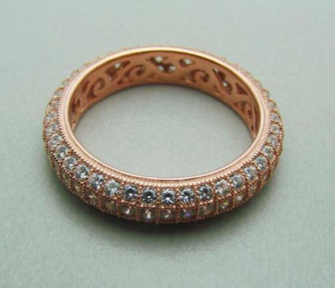 Creation Diamond Ring 2.00Ct 18k Rose Gold Over