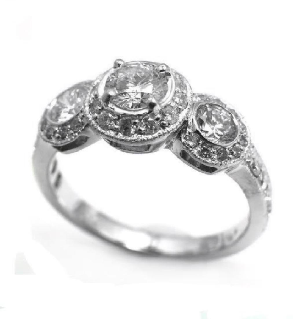 Engagement Ring 1.49 Carat 14k White Gold