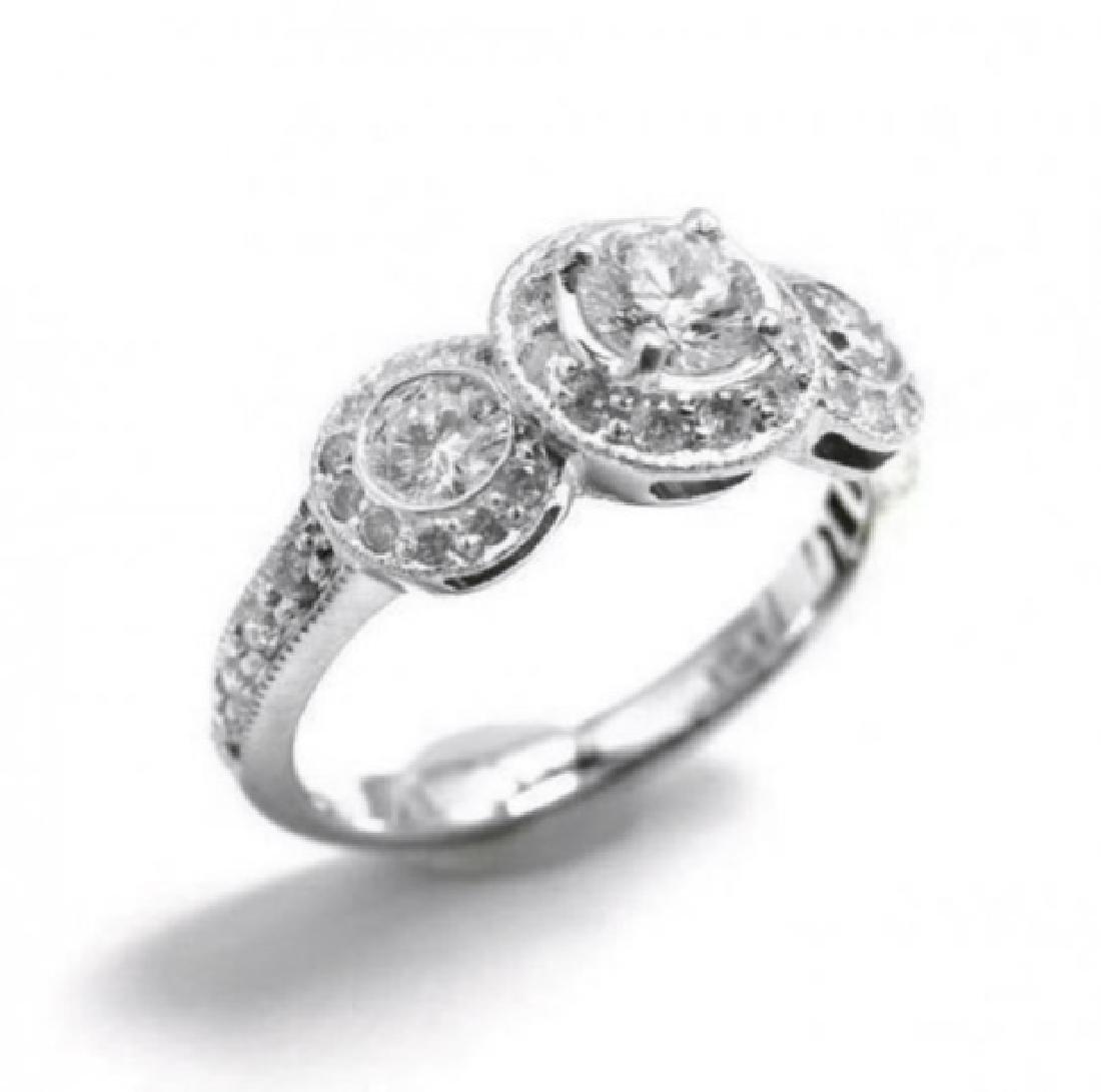 Engagement Ring 1.49 Carat 14k White Gold - 2
