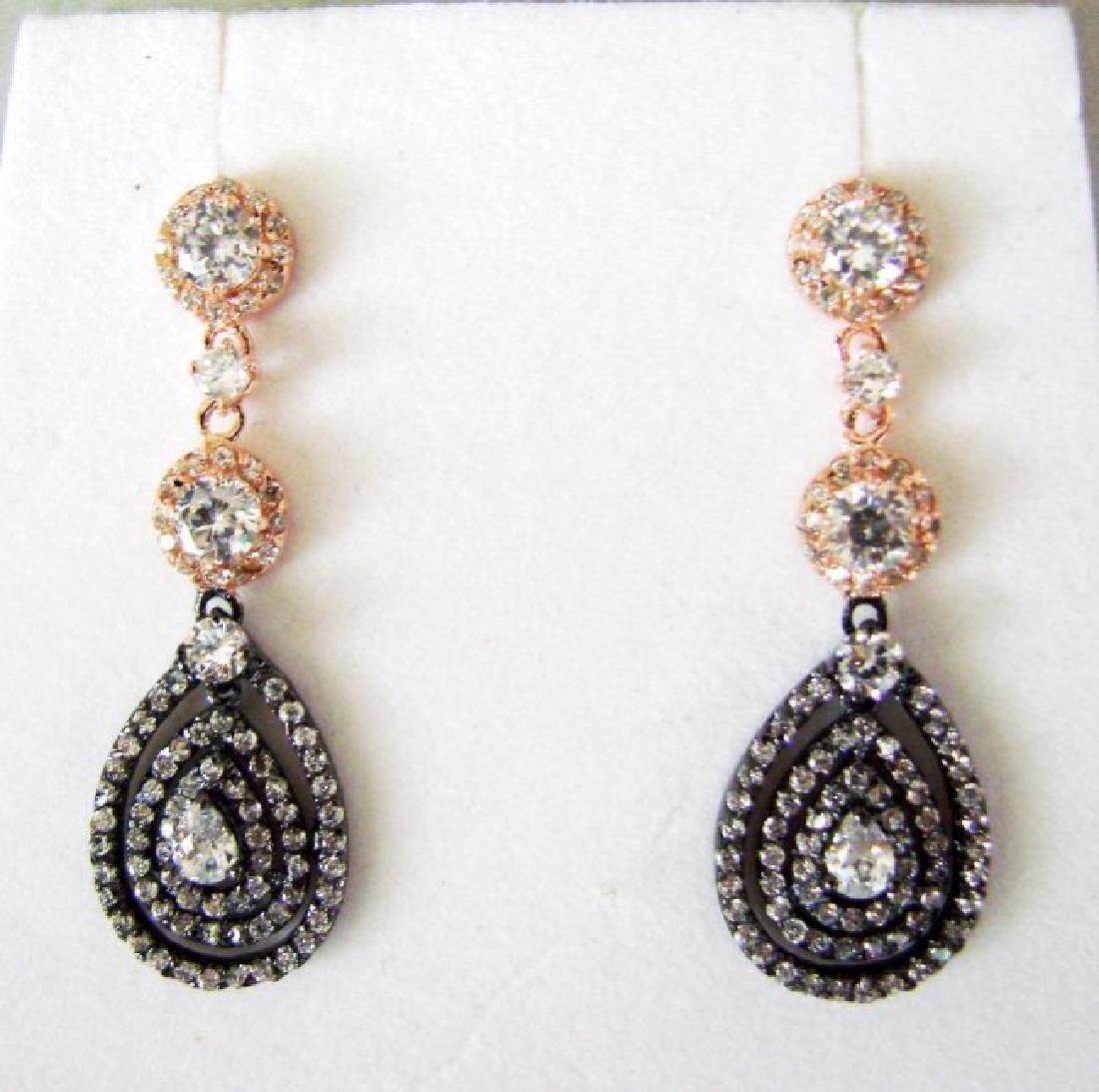 Creation Diamonds Earring 4.48Ct 18k Two Tone Overlay - 2