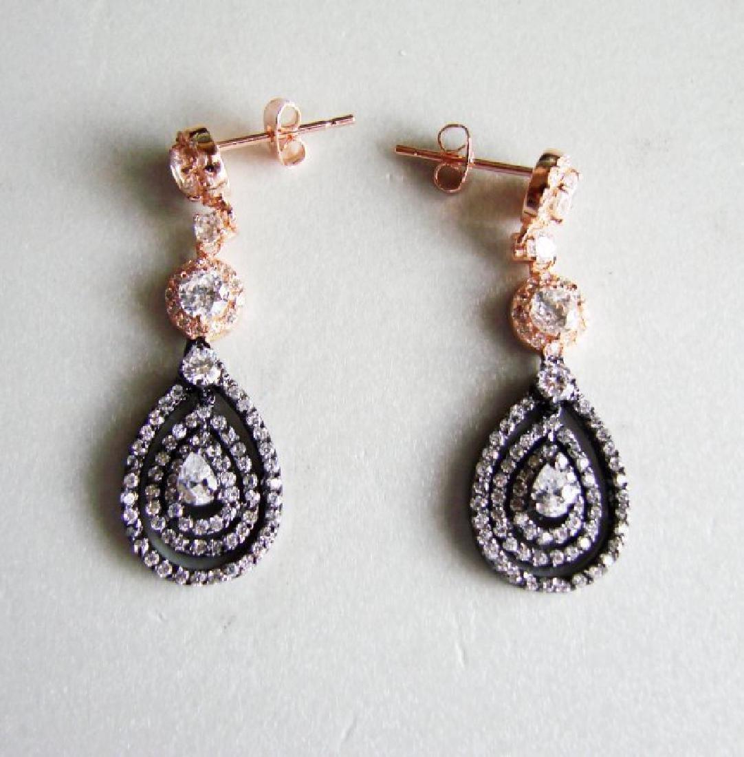 Creation Diamonds Earring 4.48Ct 18k Two Tone Overlay - 3