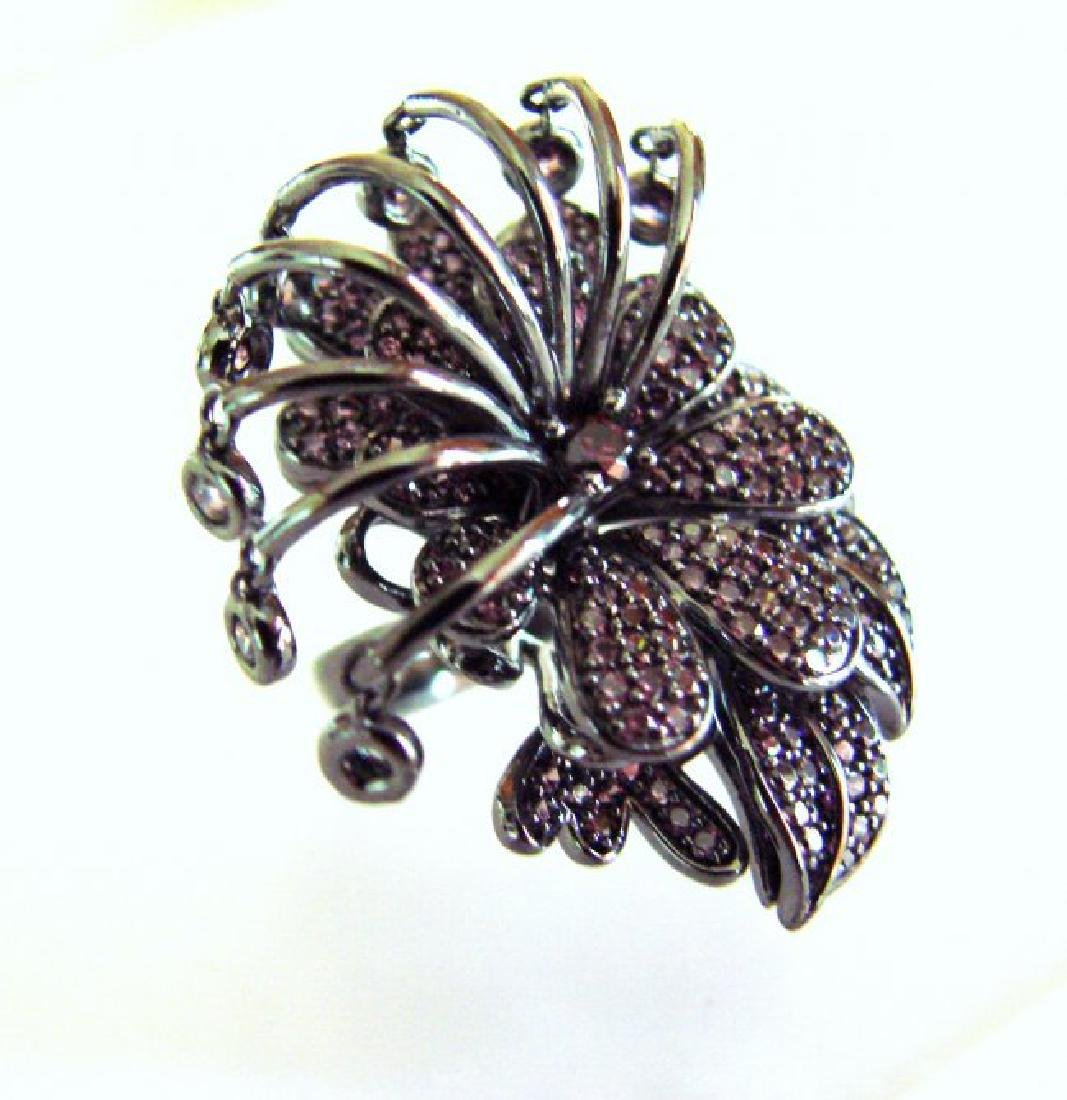Creation Pink Diamond Ring 4.38Ct 18k B/g Overlay - 3