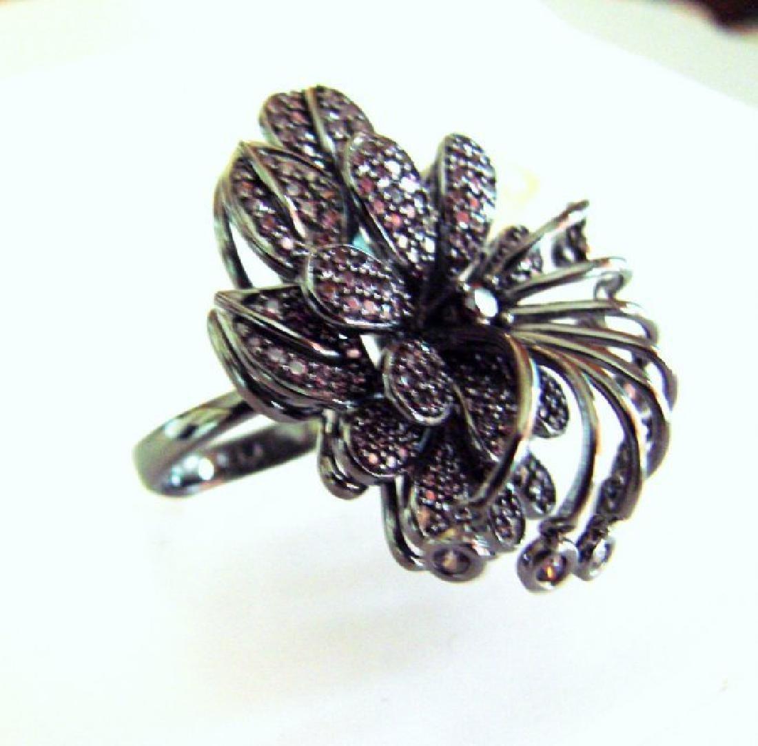 Creation Pink Diamond Ring 4.38Ct 18k B/g Overlay - 4
