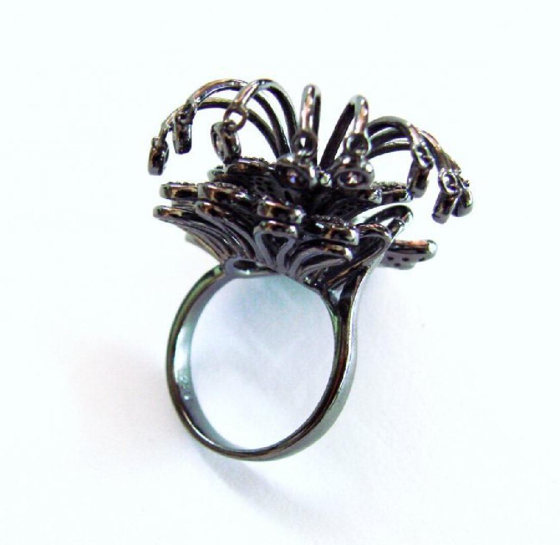 Creation Pink Diamond Ring 4.38Ct 18k B/g Overlay - 5