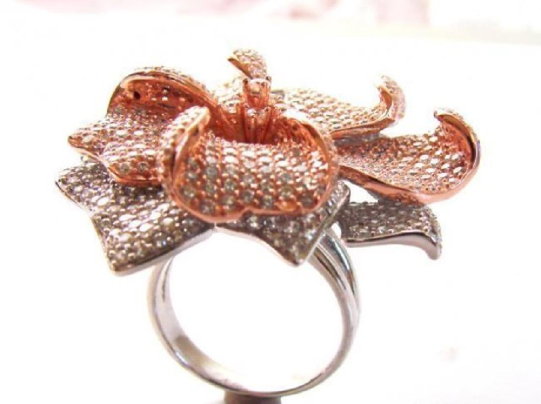 Creation Diamond Ring 6.45Ct 18k R-W/g Overlay - 3