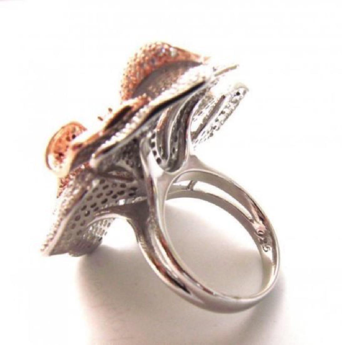 Creation Diamond Ring 6.45Ct 18k R-W/g Overlay - 4