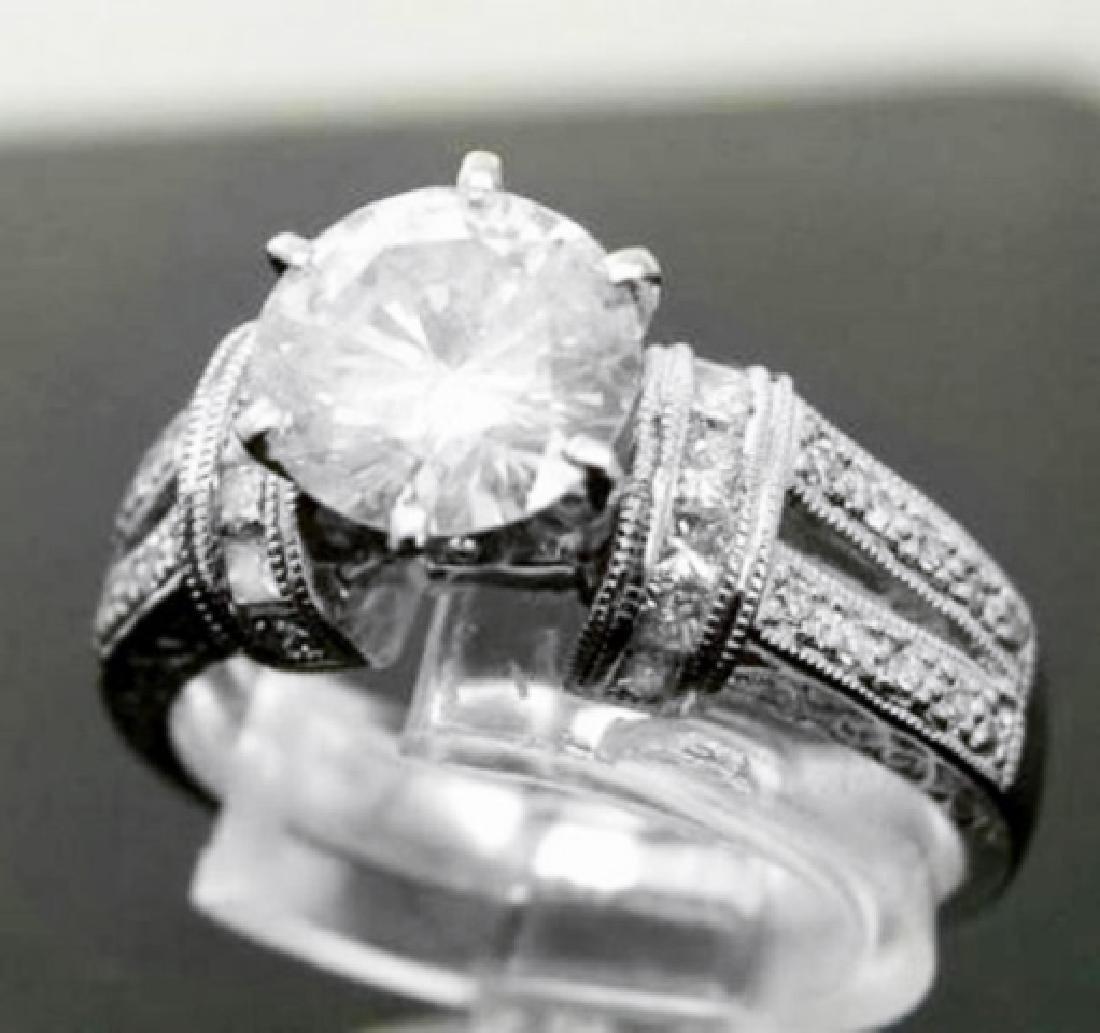 Anniversary Diamond Ring 2.12Ct 14k White Gold