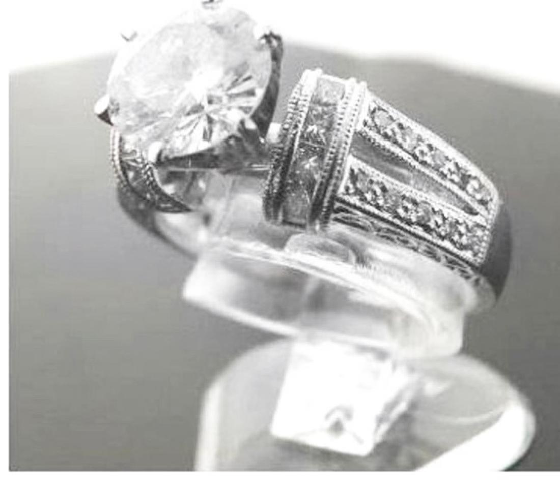 Anniversary Diamond Ring 2.12Ct 14k White Gold - 2