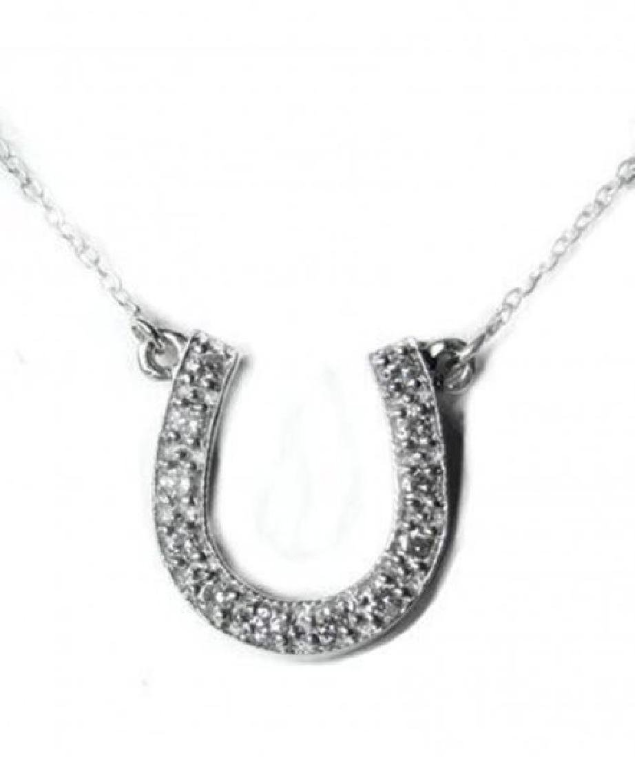 hores Shoe Diamond Necklace Setting in 14k W/g
