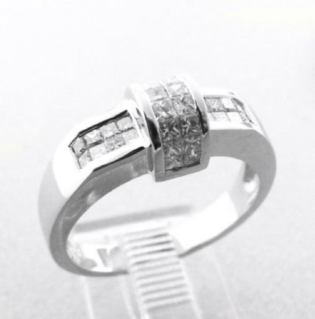 Anniversary Diamond Ring 1.02 Carat 18k W/g