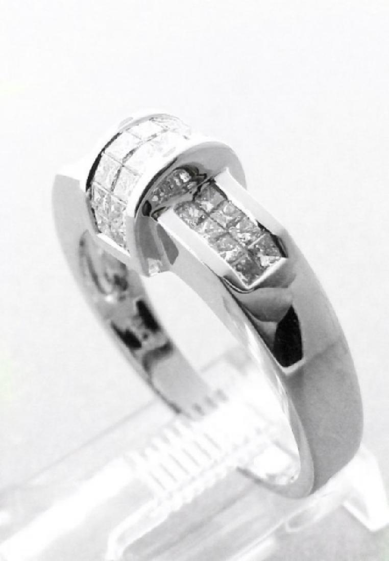 Anniversary Diamond Ring 1.02 Carat 18k W/g - 2