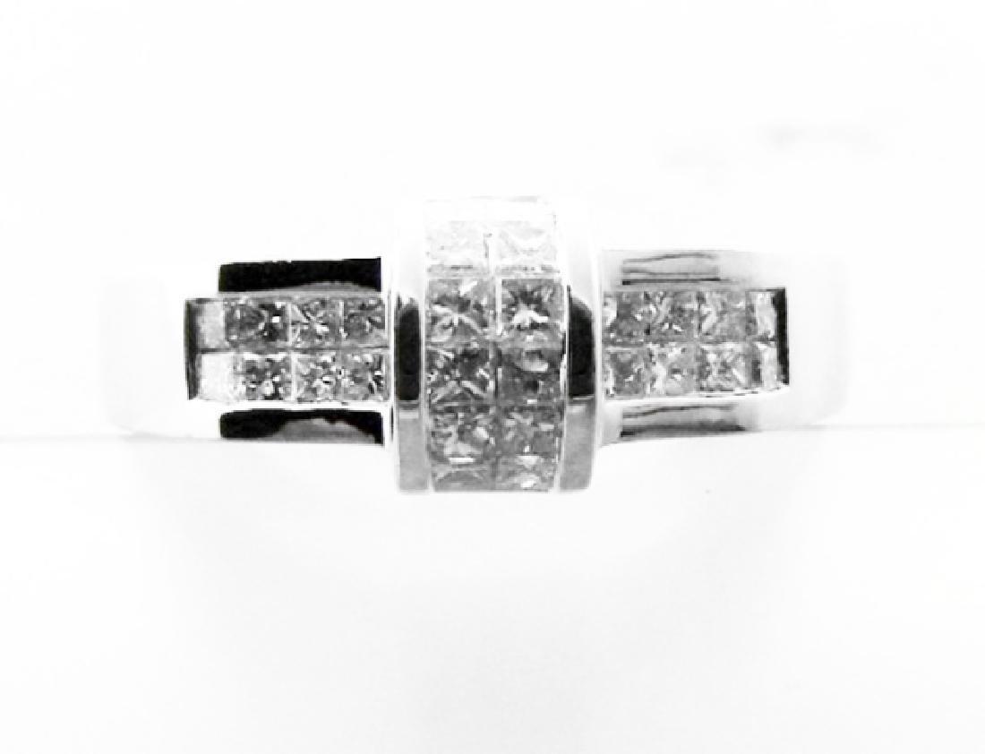 Anniversary Diamond Ring 1.02 Carat 18k W/g - 4