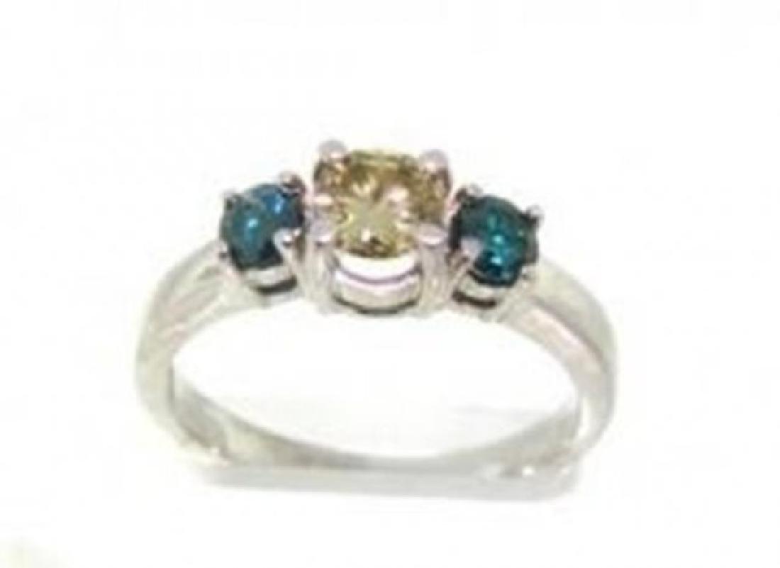 Anniversary Multi Color Diamond Ring .79 Ct14k W/g - 2