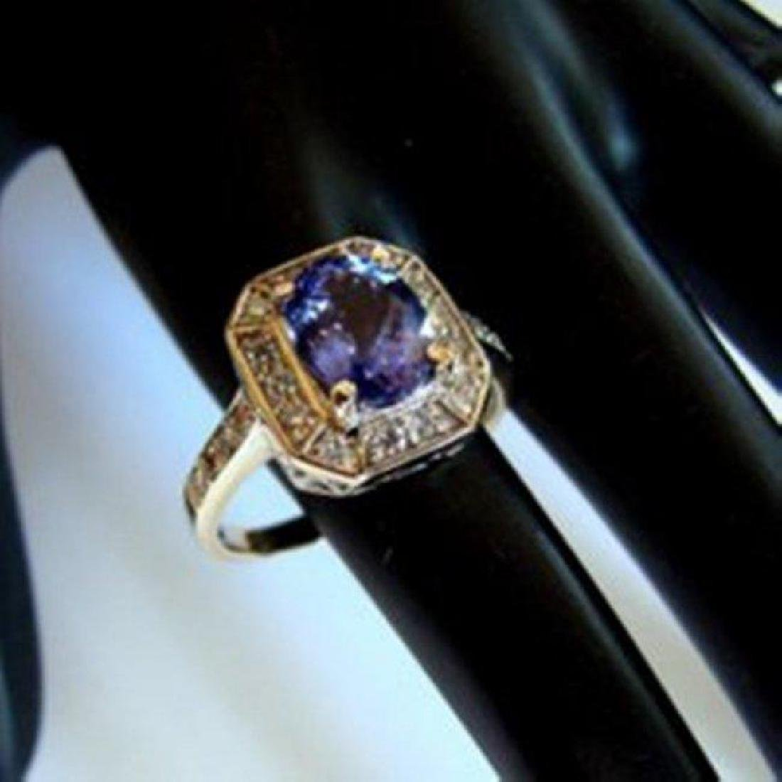 NatureTanzanite & Diamond Ring 4.87Ct 14k Y/g - 3