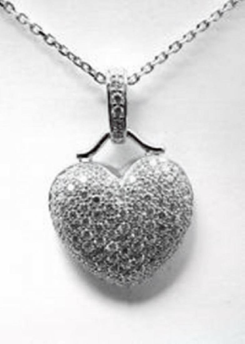 Creation Diamond Heart Pendant 2.00ct18kW/g Over