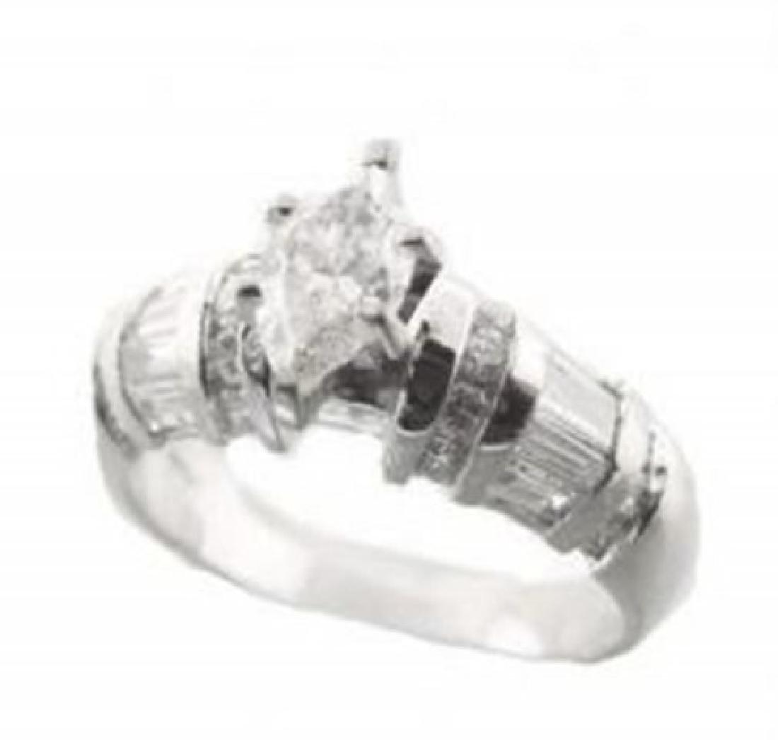 Anniversary Diamond Ring 1.89 Carat 14k W/g