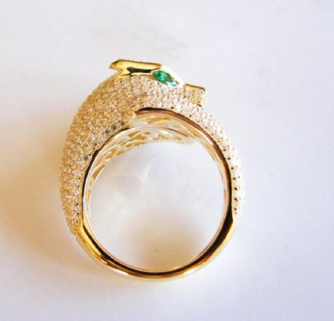 Creation Diamond Juguar Ring 3.65Ct18k Y/G Overaly - 5