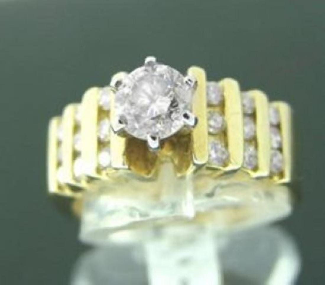Anniversary Diamond Ring 1.44 Ct 14k Y/G