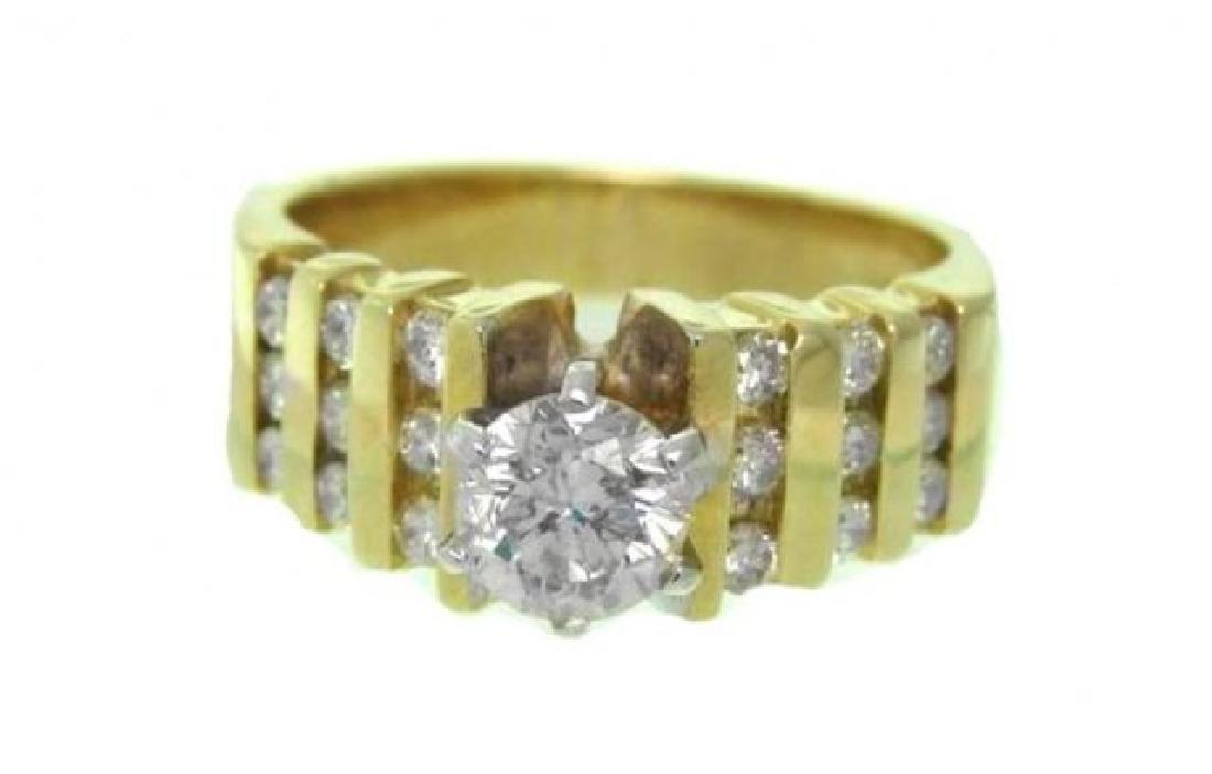 Anniversary Diamond Ring 1.44 Ct 14k Y/G - 2