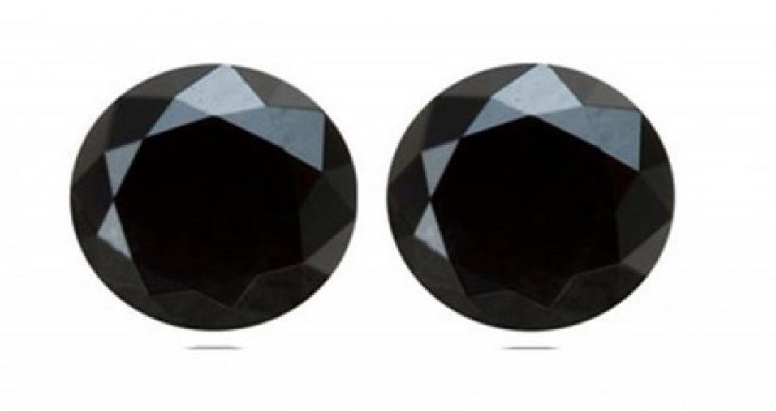 Black Diamond Round Facet 1.50 Ct Size: 6.1x3.8 mm