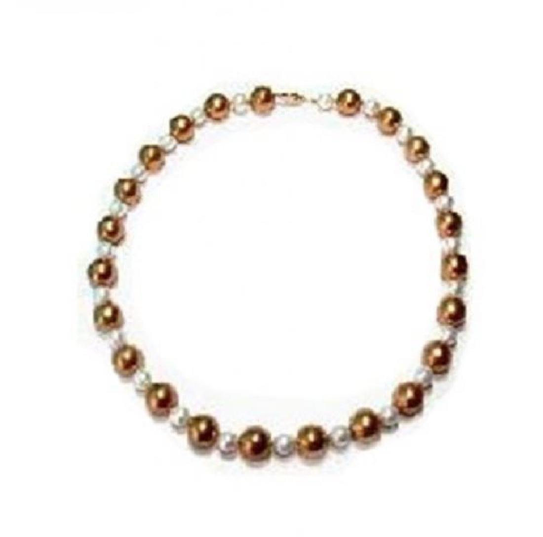 Multi Color Swarovski Necklace14k Y/g Filled - 2