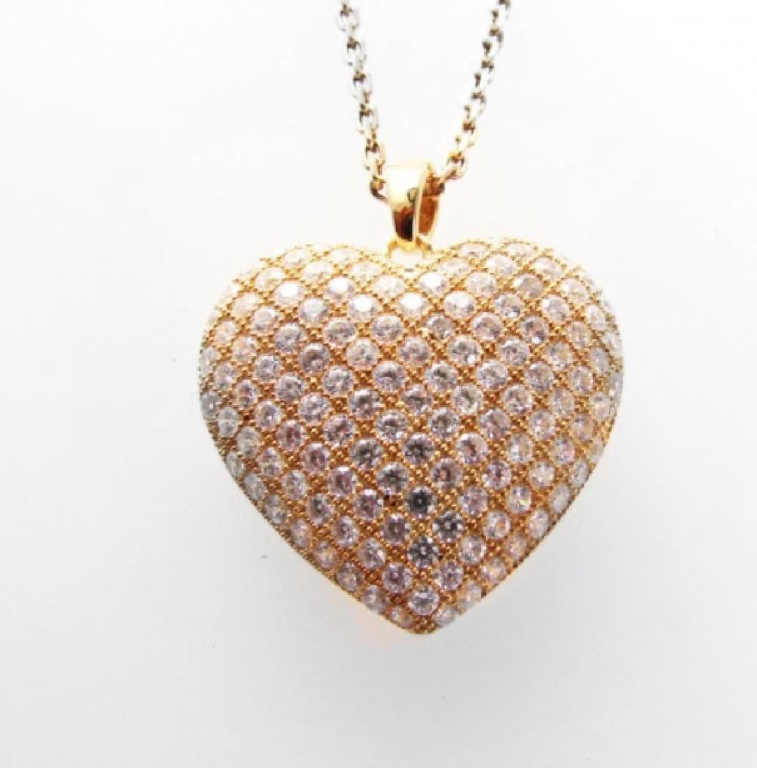 Creation Diamond Heart Pendant 2.00ct18kY/g Over