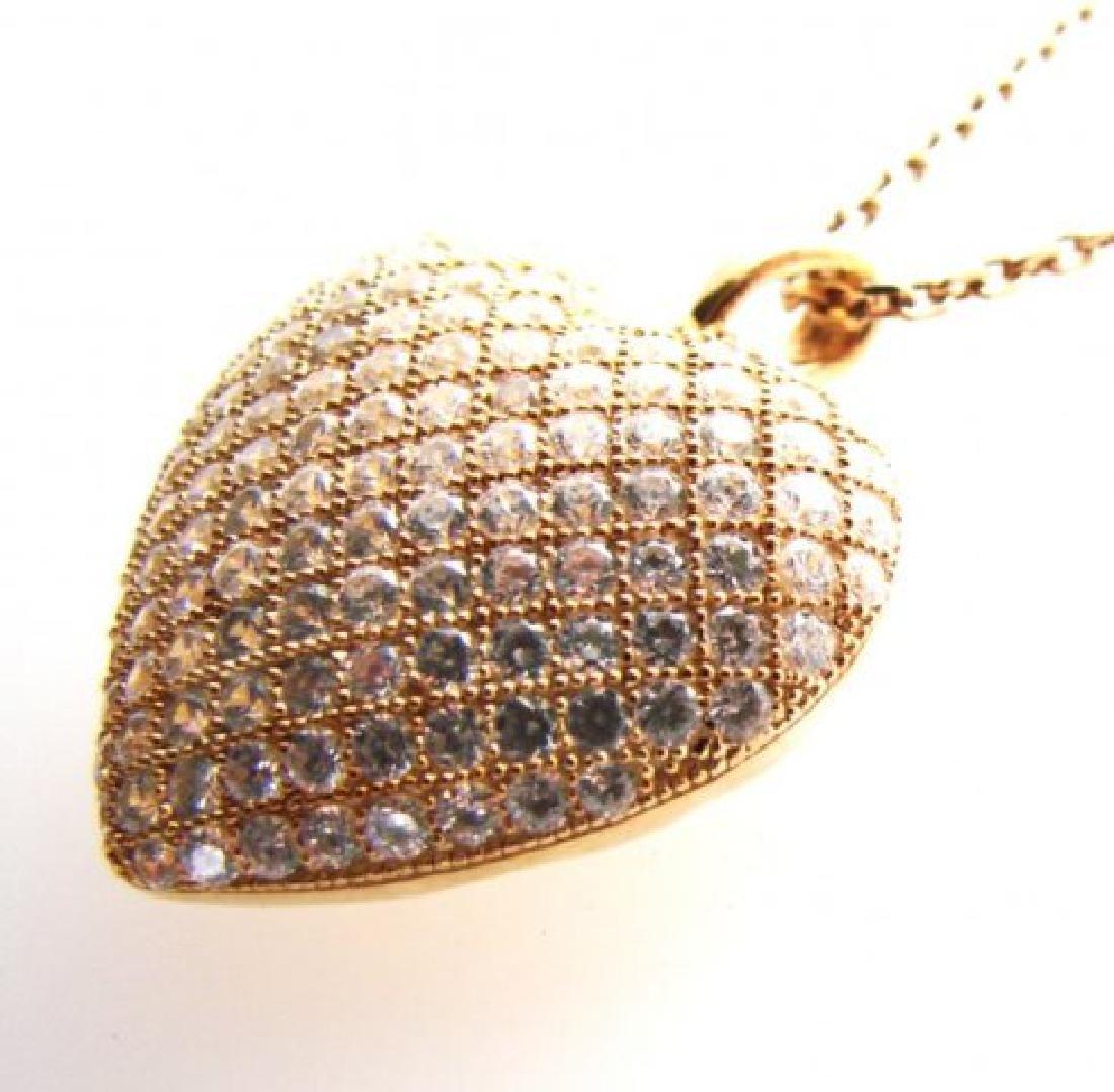 Creation Diamond Heart Pendant 2.00ct18kY/g Over - 2