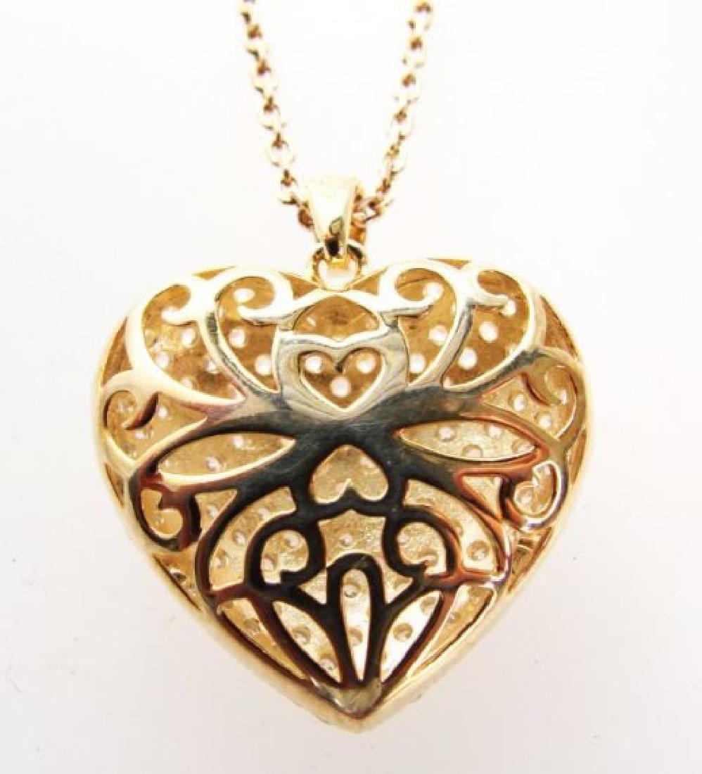 Creation Diamond Heart Pendant 2.00ct18kY/g Over - 3