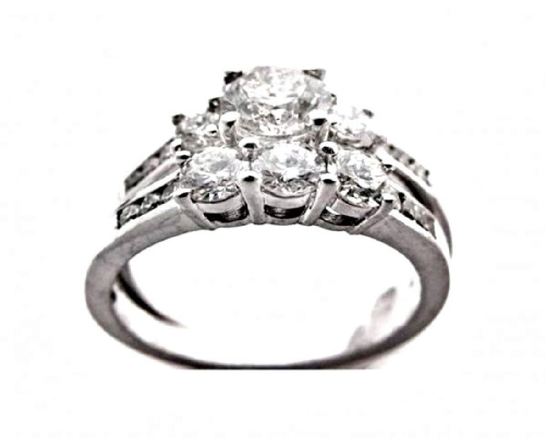 Wedding Set Diamond Ring 2.06 Carat with 14k W/G