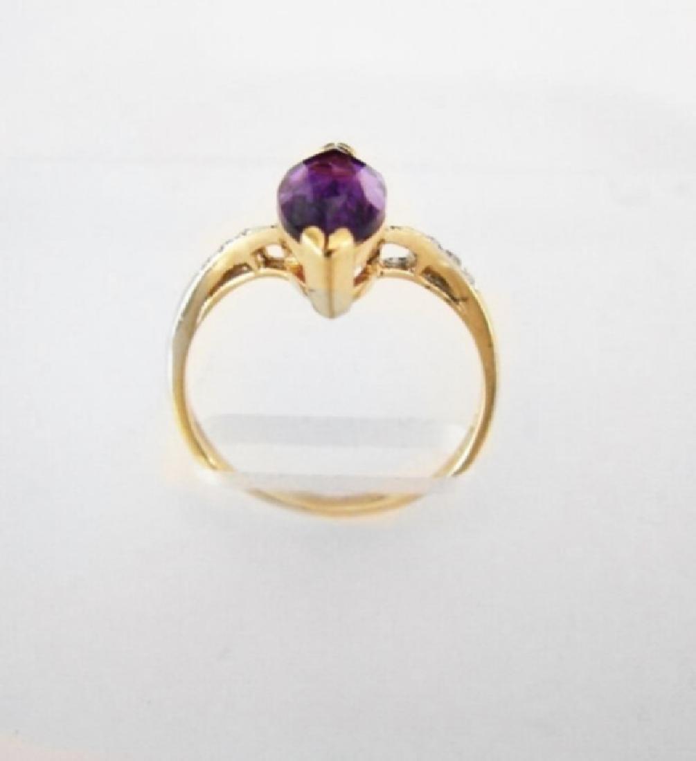Amethyst: 1.90CT Diamond: .06CT Ring 14k Y/g - 2