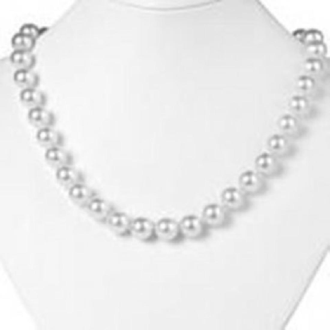 10 mm Swarovski Pearl Necklace 14k W/g Gold/ Filled - 2