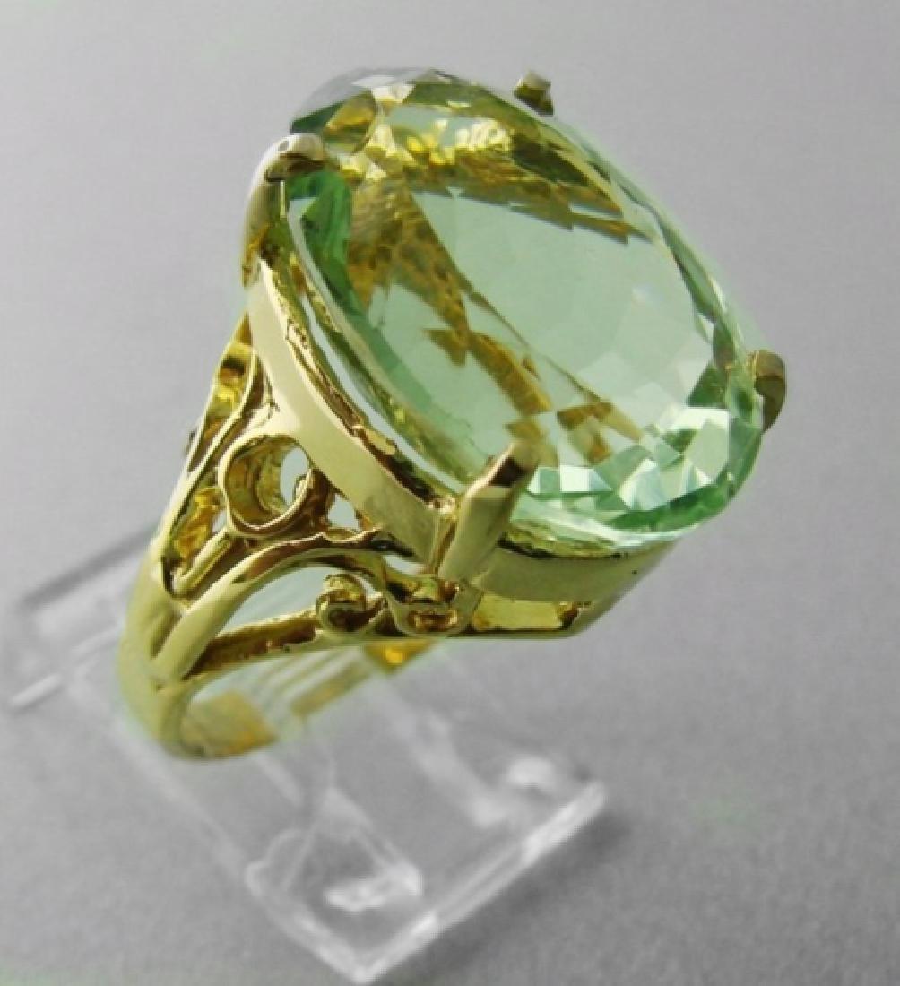 Green Amethyst Ring 12.14 Carat 14k Y/g