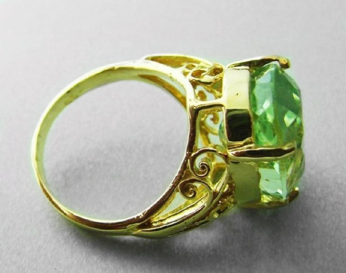 Green Amethyst Ring 12.14 Carat 14k Y/g - 2