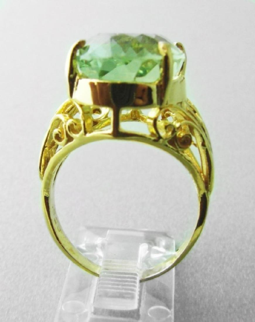 Green Amethyst Ring 12.14 Carat 14k Y/g - 3