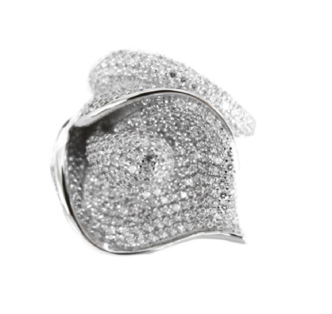 Creation Diamonds Ring 3.74Ct 18k W/g Overlay - 2