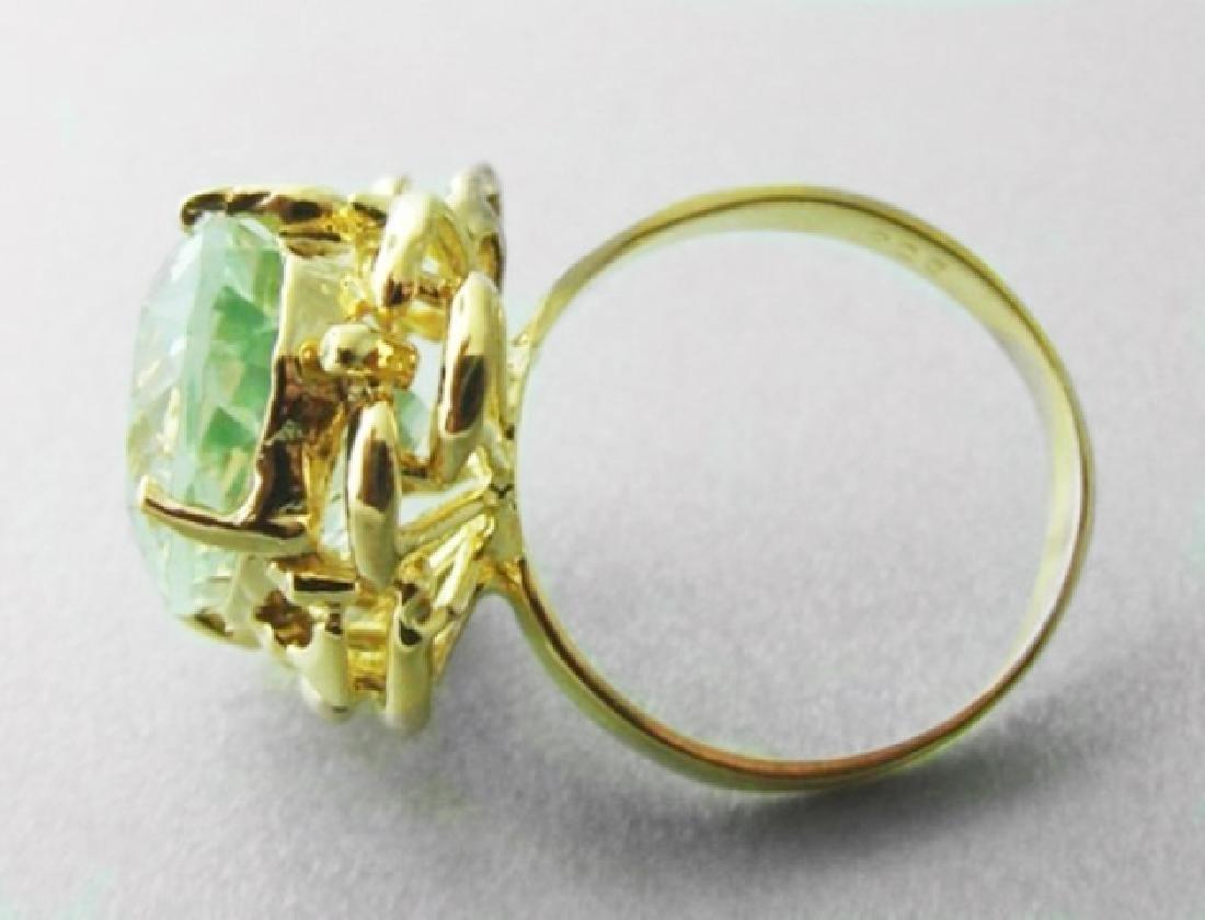 Green Amethyst Ring 10.23 Cara 14k Y/g - 3