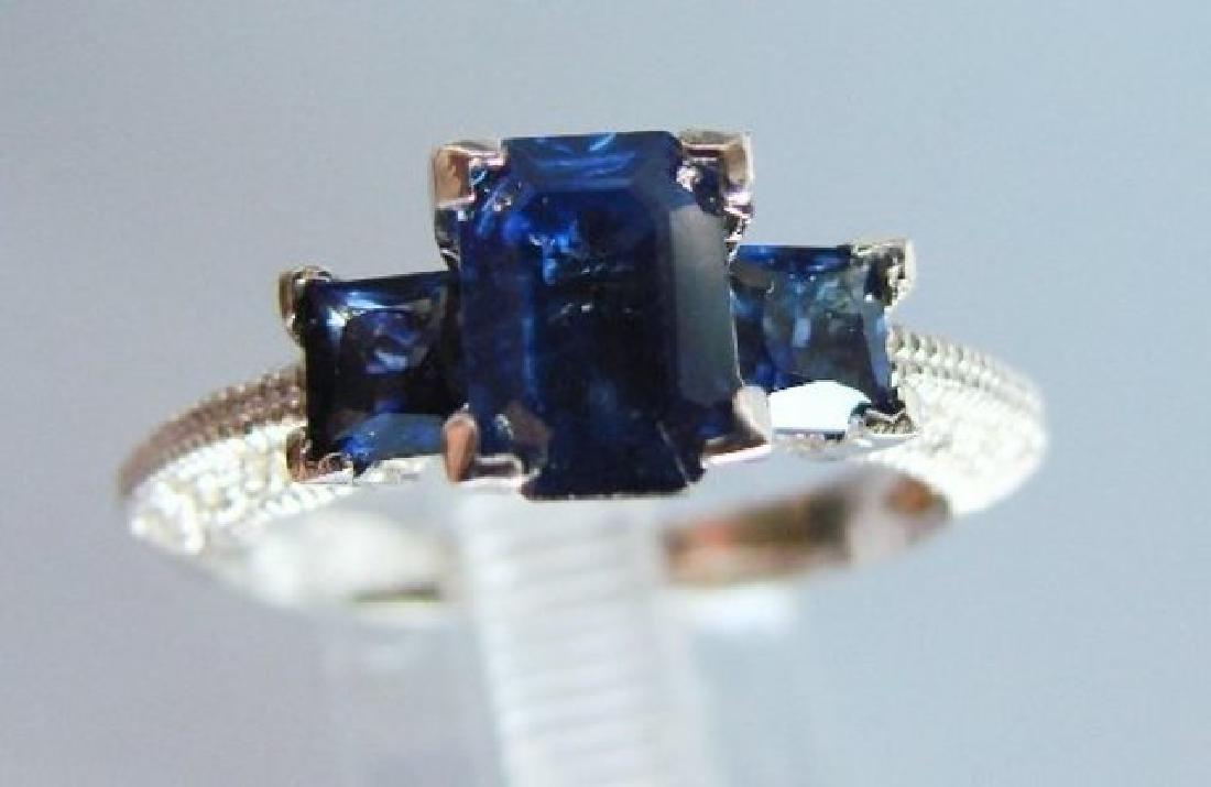 Blue Sapphire Ring: 1.80CT Diamond: .20CT 14k W/g