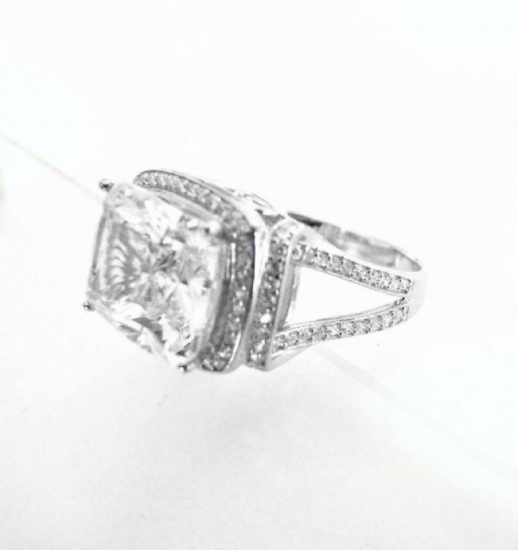 Creation Diamond Ring 12.40Ct 18k W/g Overlay - 3