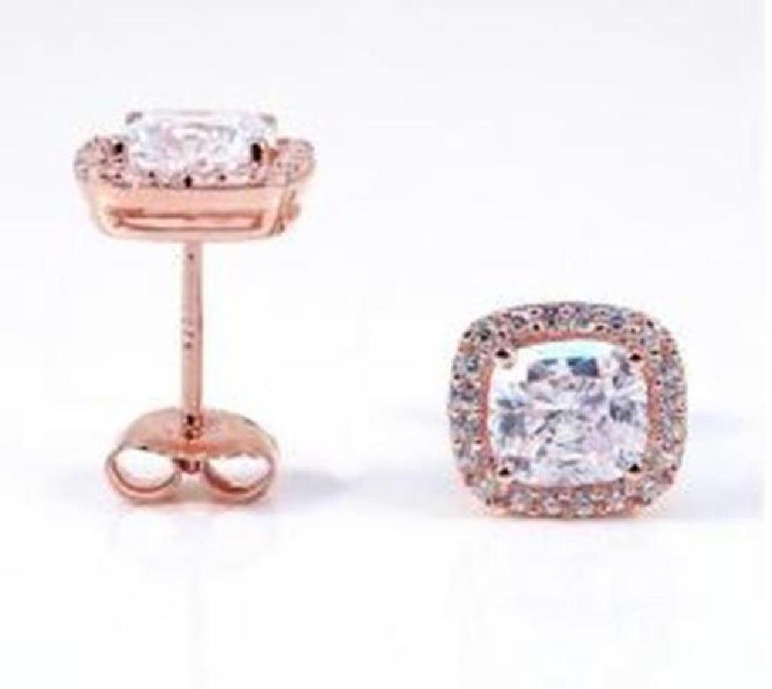 Creation Diamond Stud Earring 2.15Ct 18kR/g Overl