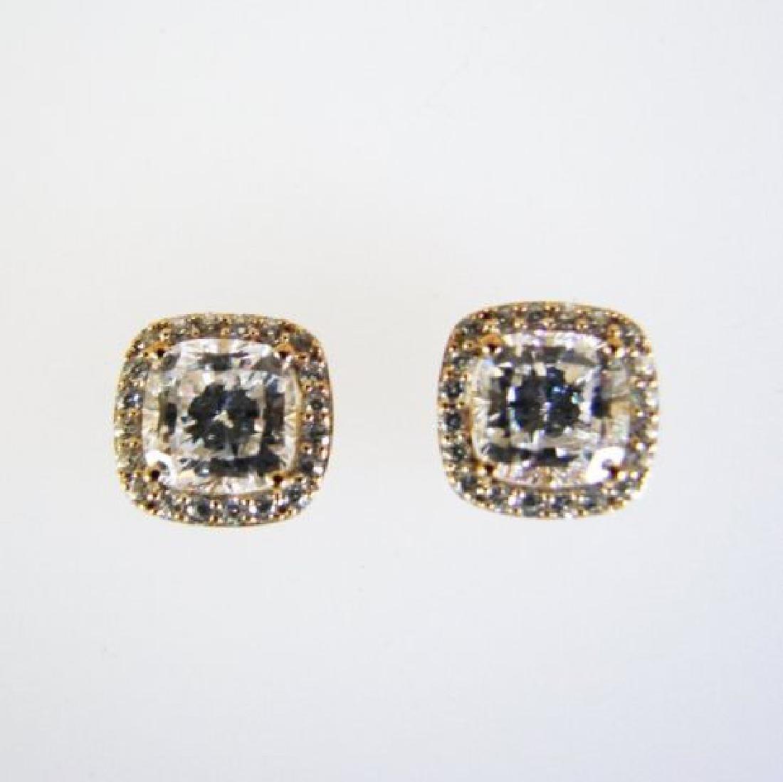 Creation Diamond Stud Earring 2.15Ct 18kW/g Overl