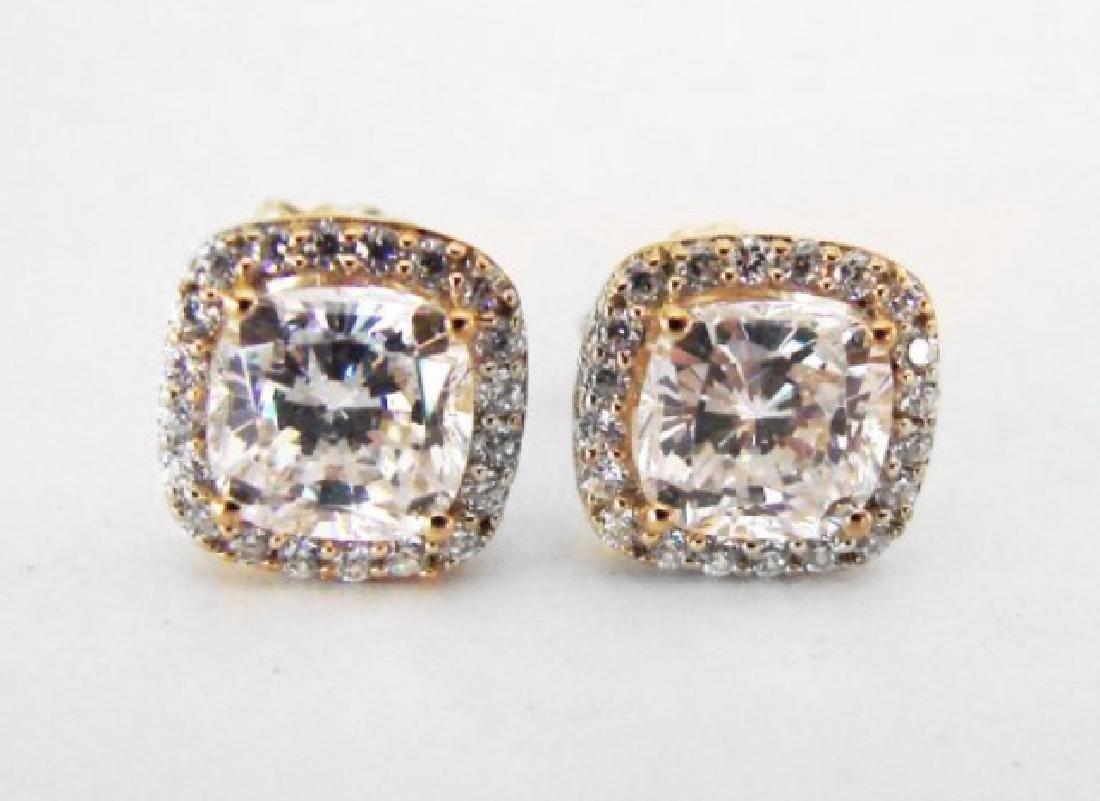 Creation Diamond Stud Earring 2.15Ct 18kW/g Overl - 2