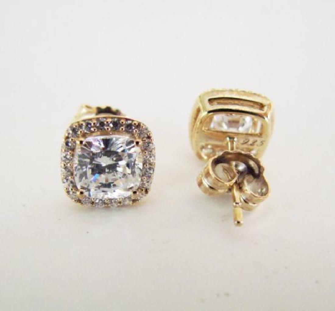 Creation Diamond Stud Earring 2.15Ct 18kW/g Overl - 3