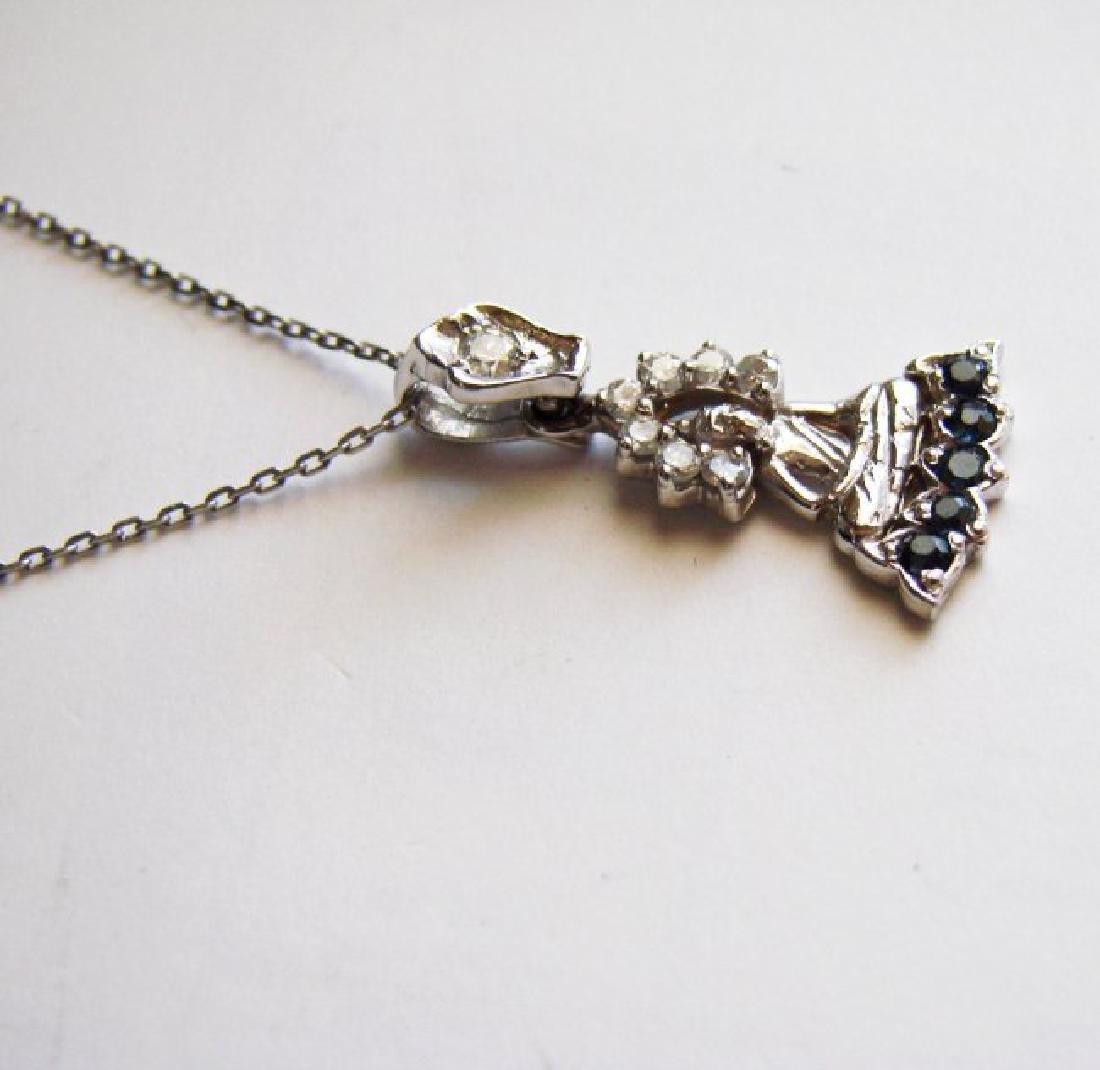Buddha Pendant Diamond & Sapphire 1.21Ct 14k W/g - 3