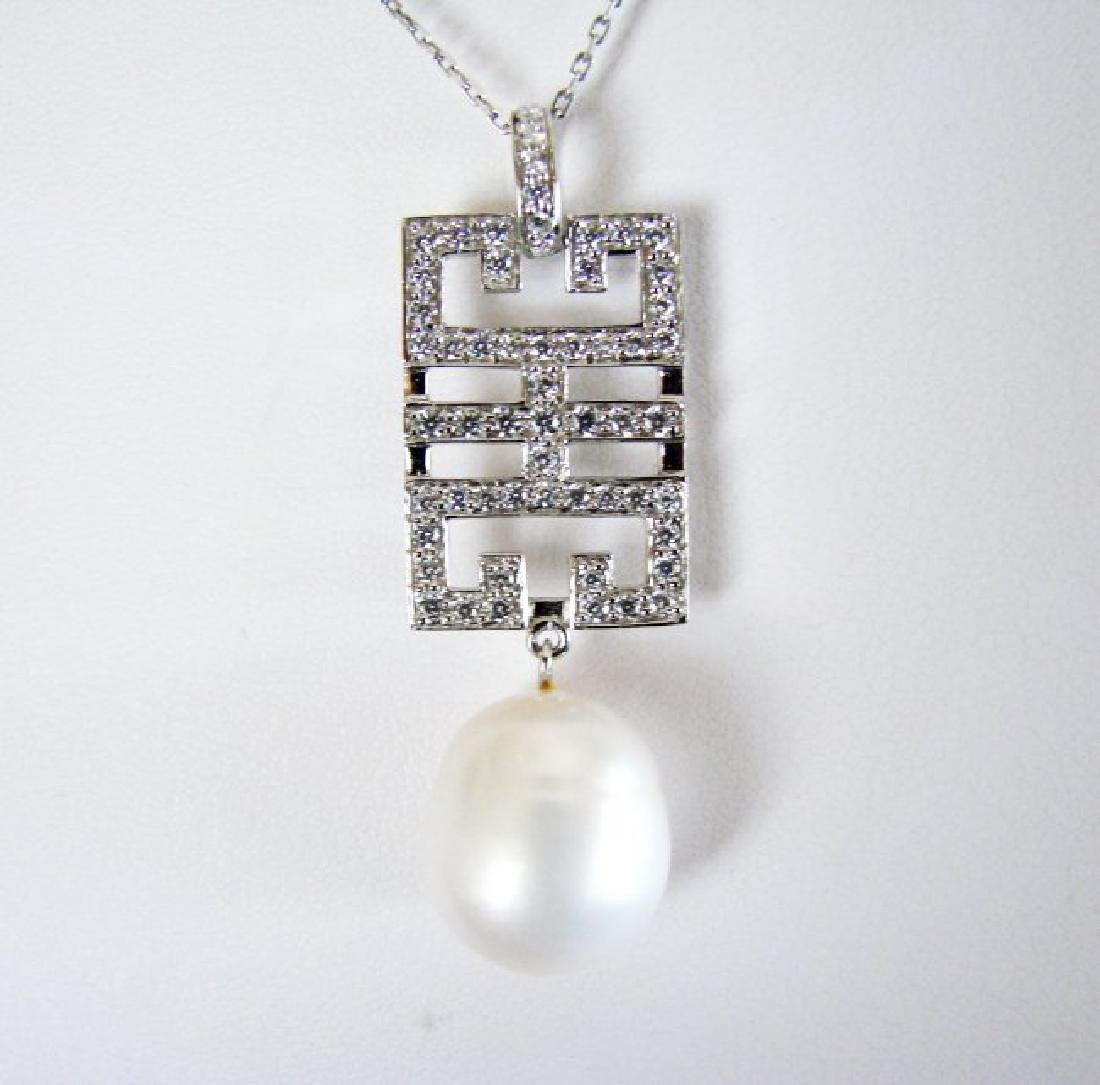 Natural Culture Pearl Creation Diamond 1.71Ct 18k W/g