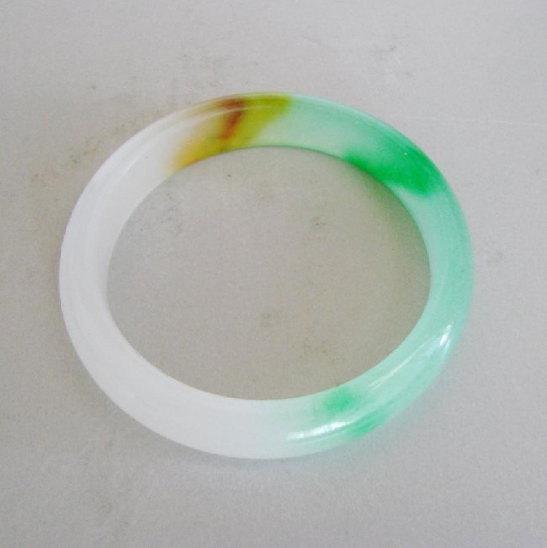 Natural Jadeite Jade Bangle Grade B Size:7.5 - 2