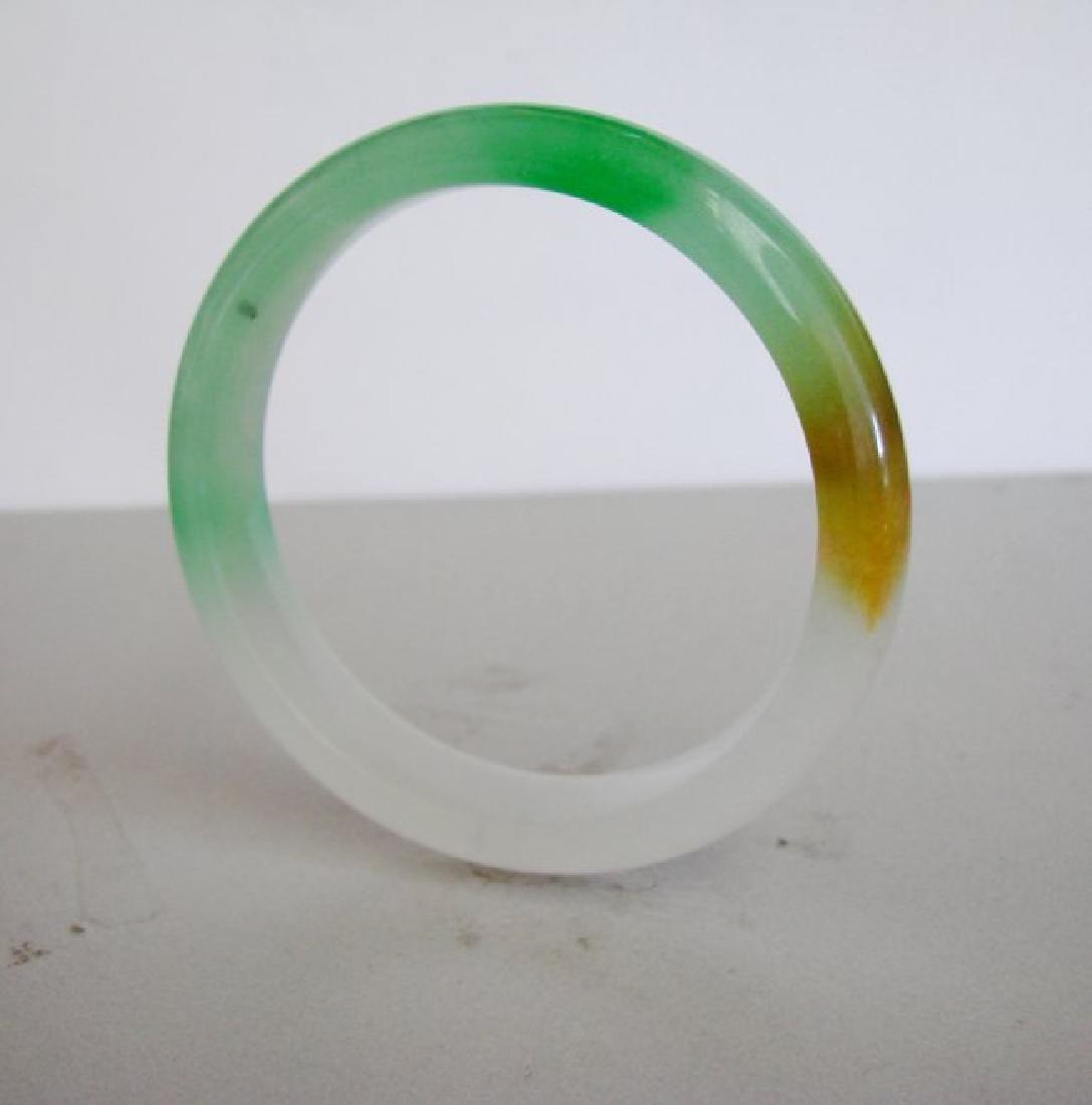 Natural Jadeite Jade Bangle Grade B Size:7.5 - 3
