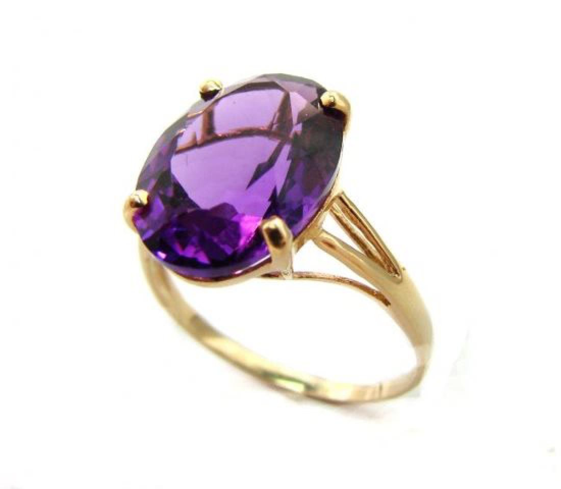 Amethyst Ring 4.10 Carat 14K Y/g - 2