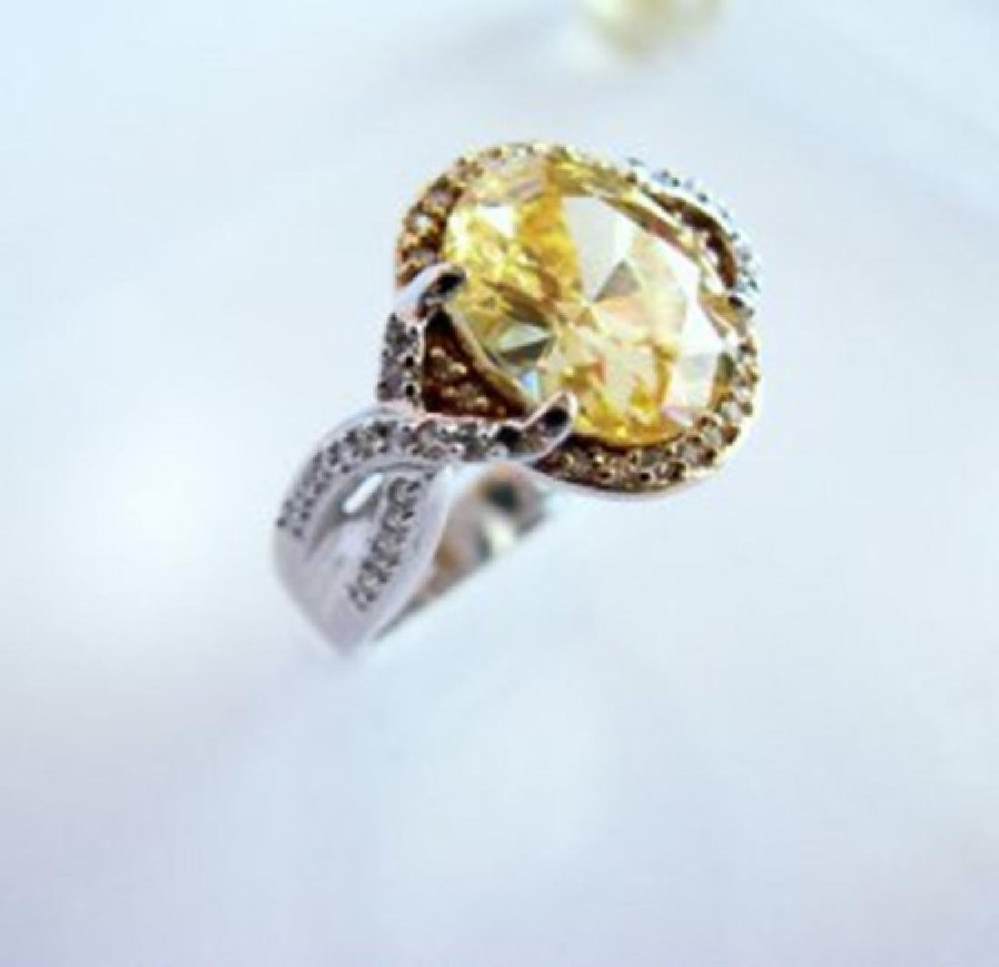 Creation Diamond Ring 5.98Ct 18k W-Y/g Overlay - 2